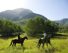 Horse back riding is only one of our many activities to enjoy during the summer here at Sundance.