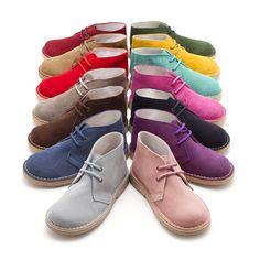 Suède desert boots Bottines chukka safari à Lacets pour Enfant - Boutique En Ligne Pisamonas