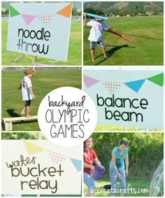 Naturally the best part of planning and creating a fun Kids Olympic Party is all about the games. We have plenty of tiny kids in our family so we didn't want to make too advanced games, but we still w