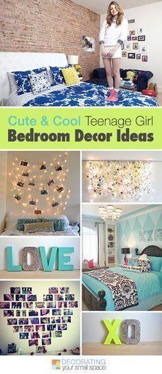 Cute and Cool Teenage Girl Bedroom Ideas  Tips, Ideas & Tutorials!  Teen girl bedroom decorating ideas.