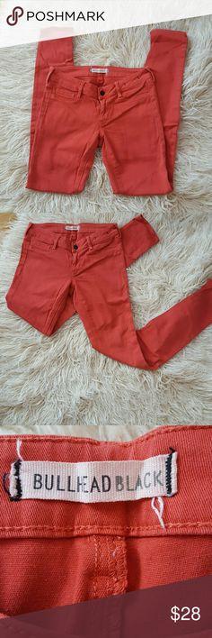 Bullheadblack skinny jeans Pink Bullhead black skinny jeans look great on size 3 90% cotton 2% spandex  Pinkish red color Bullhead Jeans Skinny