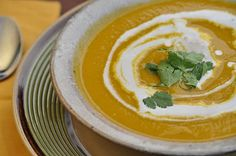 For dinner tonight: Spiced pumpkin soup and whole wheat rolls. Mmmmm! I used 2 sugar pumpkins, and squash.