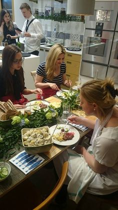 Swedish Midsummer Event hosted by Stephanie Knowles-Dellner, enjoying delicious Scan meatballs!