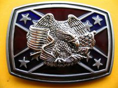 Southern Rebel Eagle Csa Stars Flag Belt Belts Buckle Buckles