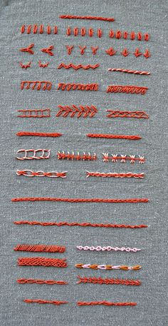 chain stitch overview of embroidery stitches