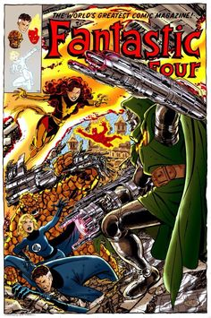 Fantastic Four and Doom vs Phoenix fauxcover by John Byrne