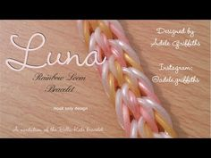 Luna Rainbow Loom Bracelet - Hook Only - YouTube
