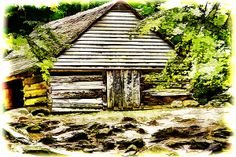Bud Ogles Cabin and Barn are a feature of the Roaring Fork Nature Trail in Gatlinburg, Tennessee. The place gives the visitor a glimpse of life during the time early settlers moved into the Smoky Mountain part of the Appalachian Mountains.