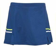 Pure Lime Tennis Two Tape Pleated Skort - Limoges/White/Brite Lime