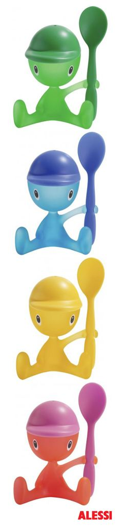 Cico - Egg cup with salt castor and spoon, Stefano Giovannoni, 2000 #alessi #design