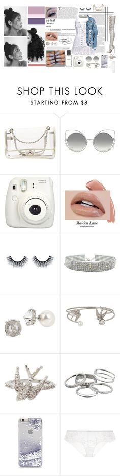 """""""gossip girl: next generation."""" by traplourde ❤ liked on Polyvore featuring Chanel, Marc Jacobs, Christian Louboutin, Fujifilm, Balmain, Dolce&Gabbana, Betsey Johnson, Kendra Scott, Forever 21 and La Perla"""