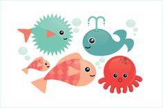 fish vector/illustration by lyeyee on @creativemarket