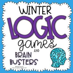 These Winter Math Logic Puzzles are great for 3rd, 4th, 5th, 6th grade or homeschool classrooms. These are a fun activity to give your third, fourth, fifth or sixth graders during #winter. Math concepts covered are addition, subtraction, multiplication, division, fractions & deductive reasoning. Contains ten logic games with answer keys. Activities include sore throats, sneezes & sniffles, Winter Lost & Found, & many more. #WinterMath #WinterLogicPuzzles