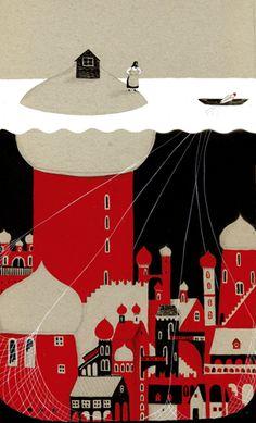 """""""Cuentos rusos"""", illustrated by Violeta Lópiz"""