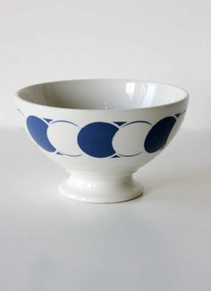 Art Deco Cafe au Lait Bowls - Blue
