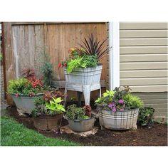 repurposed garden pots