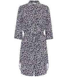 Shop Tanzania leopard-print shirt dress presented at one of the world's leading online stores for luxury fashion. Saint Laurent, Heidi Klein, White Leopard, Printed Shirts, Printed Dresses, Women Swimsuits, Navy And White, Mini, Bucket Bag