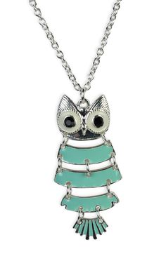 #mint #owl #necklace   $7.12