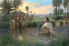 """Jesus Baptising From the Holy Bible* """"After these things came Jesus and his disciples into the land of Judea; and there he tarried with them, and baptized."""" (John 3:22)"""