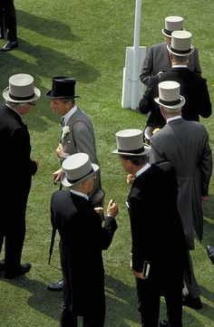 Gentlemen in the formal attire at Royal Ascot - June 2014. Quite the event!