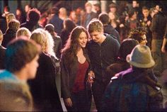 Still of Michael Cera and Kat Dennings in Nick and Norah's Infinite Playlist (2008) #katdennings #michaelcera #moviereview