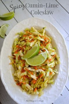 Spicy Cumin-Lime Coleslaw - An Oregon Cottage Minus Honey