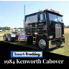 1984 KENWORTH CABOVER - LOW RIDER - What a sharp looking cabover, all dressed in black and lookin' large. What a site!