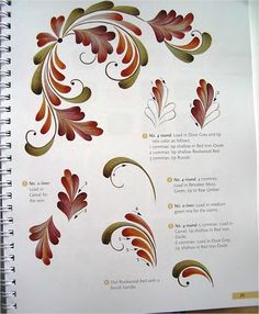 Resultado de imagem para Rosemaling Patterns to Trace Folk Art Flowers, Flower Art, Red Flowers, Fabric Painting, Painting & Drawing, Donna Dewberry Painting, Rosemaling Pattern, Norwegian Rosemaling, Tole Painting Patterns