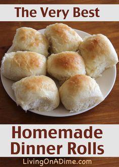 The Very Best Homemade Dinner Rolls Recipe