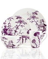 Scalamandre by Lenox, Toile Tale Amethyst 4 Piece Place Setting
