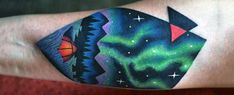Discover the dazzling sky spectacle with the top 50 best Northern Lights tattoo designs for men. Explore cool colorful Aurora Borealis ink ideas.