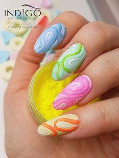 Miami Gel Polish Collection + Mermaid Effect by Katarzyna Leśniak, Indigo Educator #nails #nail #pastelnails #nailsart #pastel #indigonails #indigo #hotnails #summernails #springnails #nataliasiwiec #miami #mermaideffect #effectnails