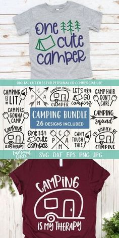 This camping SVG file bundle works great with the Cricut and Silhouette Cameo for crafters to make DIY projects such as shirts signs mugs and more! Works great with heat transfer vinyl. Camping Photo, Camping Style, Rv Camping, Camping Hacks, Camping Friends, Camping Recipes, Silhouette Vinyl, Silhouette Cameo Projects, Cricut Vinyl