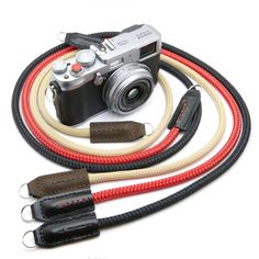 Custom Made Cord & Leather Fixed Length Camera Neck/Shoulder Strap