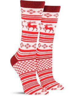 c48f3836908 Reindeer Fairisle Cashmere Socks Merino Wool Socks