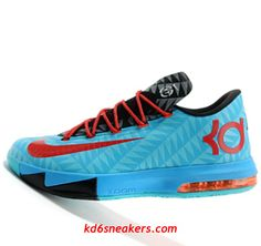 53941afde93 Nike KD VI 6 N7 blue black Kevin Durant Basketball shoes - Click Image to  Close