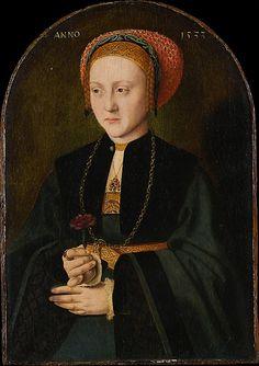 Portrait of a woman by Barthel Bruyn the Elder,1533