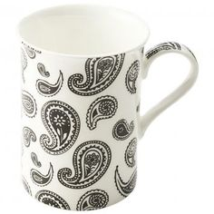 Make a statement with the Cashmere Art Deco Paisley Mug from Maxwell and Williams.