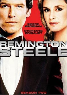 Not on TV any more, bit it was a great series :)  Remington Steele (TV Series 1982–1987)