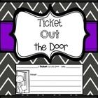 You can use this quick printable to have students answer questions before they head out the door!  Keep a bin or some kind of container for your st...
