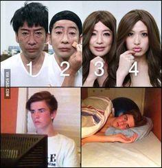 #humor Vaya Face!: Asiáticos genios del maquillaje y capaces de crearte un trauma de por vida...
