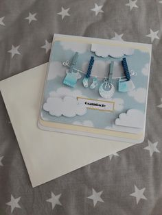 Congratulations  card for twins