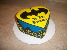 Batman Valentine's Day Cake