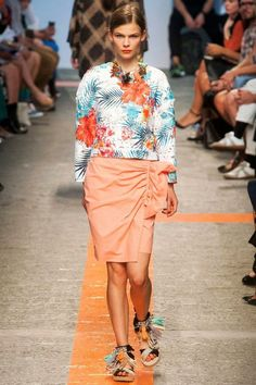 tropical print catwalk 2014