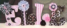 Nursery Letters  Decorative Nursery Letters custom by BrittaStJohn