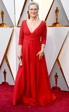 Oscars 2018 Best Dressed on the Red Carpet - Meryl Streep in Dior Meryl Streep, Christian Dior, Divas, Vestidos Fashion, Oscars, Oscar Dresses, Victoria Dress, Red Carpet Looks, Red Carpet Dresses