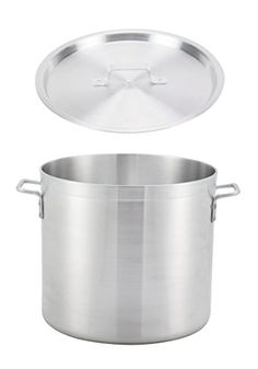 Winco ALST8 8Quart 9 x 73 Extra HeavyDuty Commercial Grade 316 Thick Aluminum Stock Pot with Matching Cover NSF >>> You can find out more details at the affiliate link of the image.