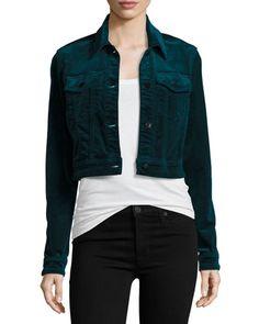 BG Exclusive Faye Shrunken Velvet Jacket by J Brand at Bergdorf Goodman.