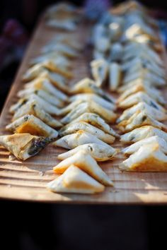 Wedding canapes - try spinach and feta filo