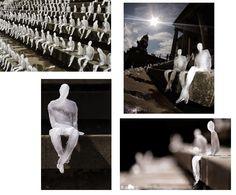 Anders 2015: 6. Kunstenaars en maatschappij Nele Azevedo De Braziliaanse Azevedo verbeeldde in 2009 de opwarming van de aarde. Hij plaatste meer dan 1000 bevroren menselijke figuren voor een gebouw waar het Wereldnatuurfonds bijeen kwam. Langzaam voltrok zich een 'ramp' onder de ogen van een groot publiek.